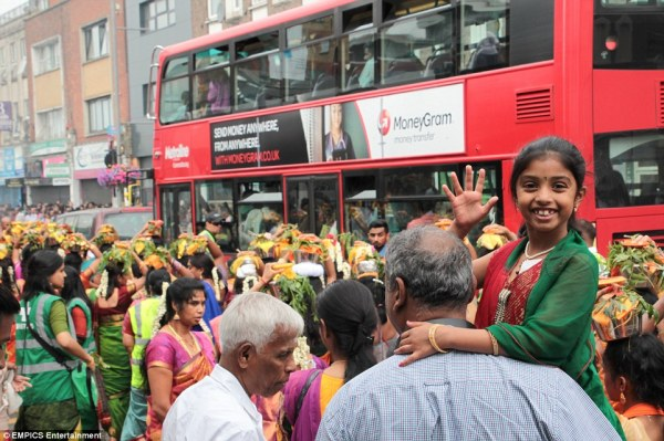 Thousands of Hindu devotees gather in West London for ...