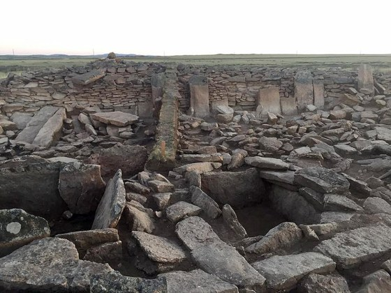 The archeological site in Kazakhstan. Archeologists discovered it last year but have kept their 'sensational find' secret