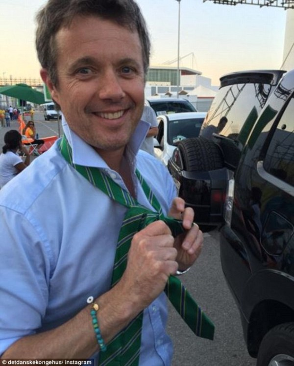 Crown Prince Frederik visits Olympic Park without Princess ...