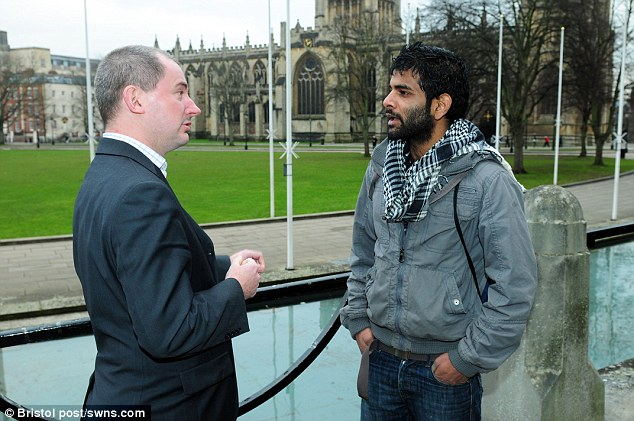 Help: Liberal Democrat MP for Bristol West, Stephen Williams (pictured meeting Suganthan), lobbied immigration minister Damian Green to grant asylum to the 31-year-old from Bristol