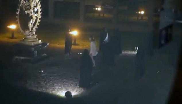 The bizarre video which has circulated online for days shows several individuals in black cloaks gathering in a main square at Europe's top physics lab, in what appears to be a re-enactment of an occult ceremony