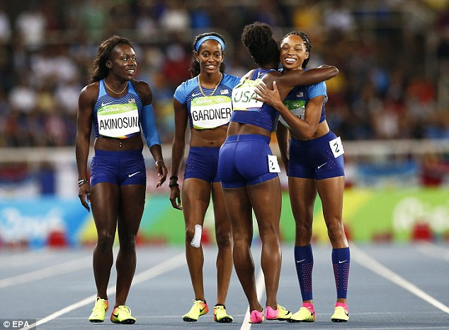 The relief on the women's faces was clear to see after being given a second chance at gold