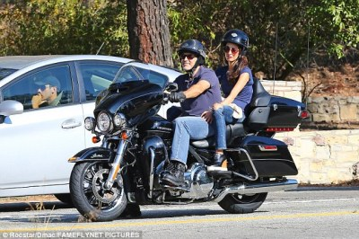 Wild ones: George is a big fan of motorbikes, and is often seen taking his Harley out when he's in LA