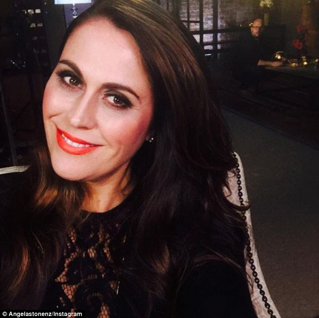 Speaking out: The Real Housewives of Auckland Angela Stone (pictured) has hit out at her co-star Michelle Blanchard after she branded her 'plus size'