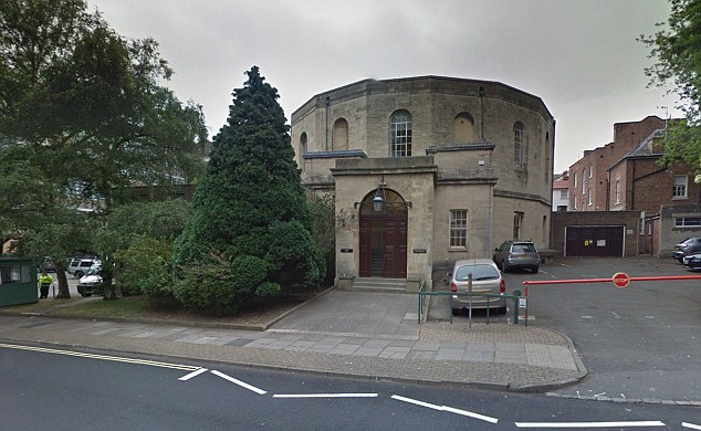 Shocking: Gloucester Crown Court (pictured) heard that Hearsum even threatened the victim with a knife when she repeatedly refused her sexual advances