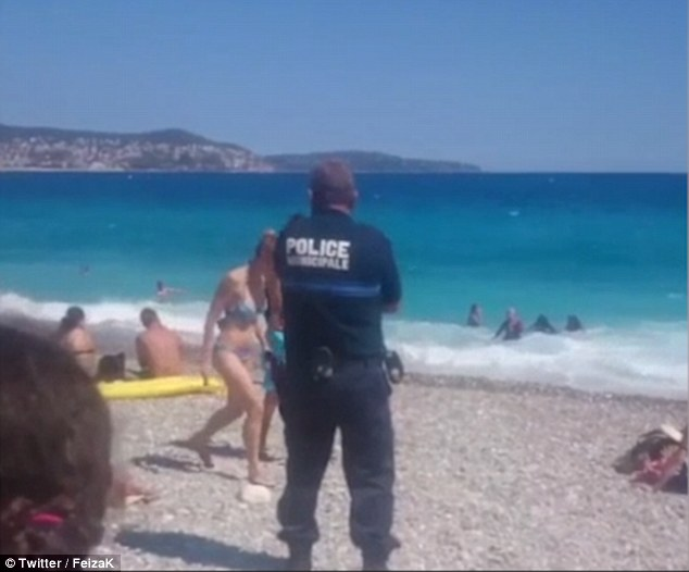 On Monday, in a separate incident, a woman was also fined for wearing a headscarf on a Nice beach