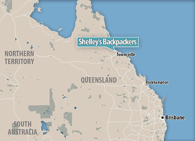 Investigators revealed the woman and man, who were British nationals, were allegedly stabbed by a French man with a knife. This map shows the location of Shelley's Backpackers