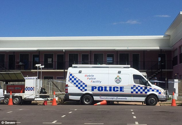 The woman is dead and the 31-year-old man is fighting for his life after they were stabbed at Shelley's Backpackers (pictured) in Queensland