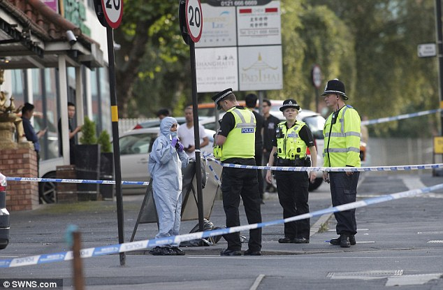 Counter terrorism police arrested three men, aged between 18 and 28, in Birmingham today (pictured)