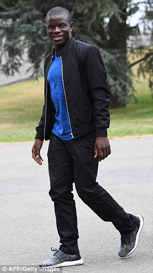 N'Golo Kante was conservative in his choice of clothing but wore Adidas Ultra Boost trainers worth £130