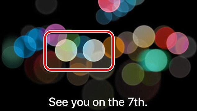 Apple watchers say this part of the invite reveals what appears to be the much rumoured double camera lens of its upcoming handset.