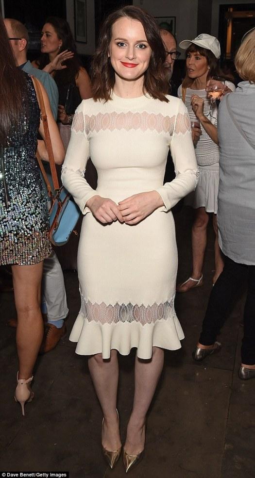 Downton Abbey's Sophie McShera stuns in fitting midi dress ...