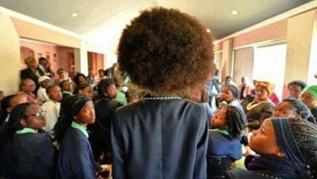 Anger: Minister Panyanza Lesufi described the school¿s policy on hair as ¿stone age rules¿ and ordered its immediate suspension