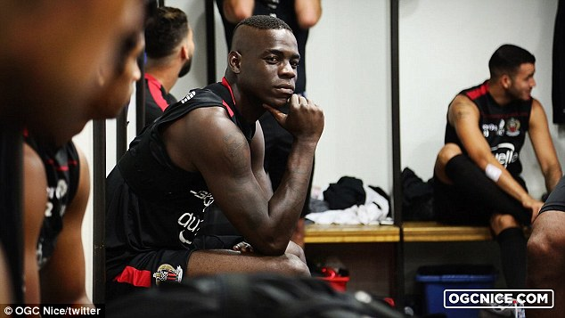 All eyes were on Mario Balotelli as he trained with his new club Nice for the first time