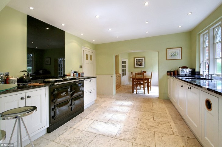 Kitchen Which Features Electric Aga Country Style White Wooden