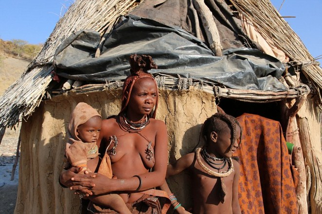 Tribespeople speak OtjiHimba, and are considered the last semi-nomadic people of Namibia