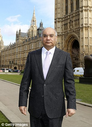 Mr Vaz, pictured, asked the prostitutes to seek out another man on Grindr for their party