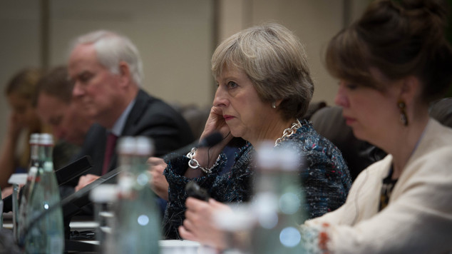 Prime Minister Theresa May at the G20 Summit in Hangzhou, China.