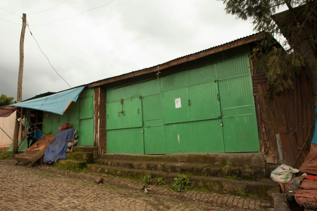 closed shops in Burayu town, about ten kilometres from Addis Ababa in Oromia regional state.Most traders have closed their shops and called for a general str...