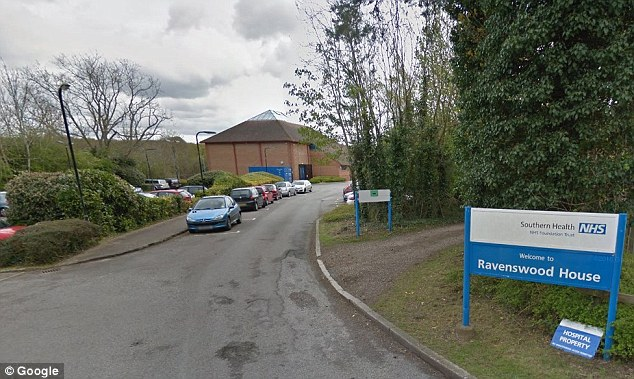 Mike Holder's report also found ligature points in patients' rooms at Ravenswood, a secure unit outside Fareham, Hampshire (pictured)