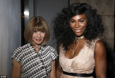 Friends in high places: She was joined a the event by longtime Vogue editor-in-chief Anna Wintour