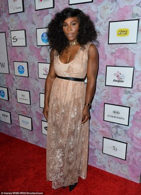 Looking ace: Serena Williams looked fierce at her runway show as part of New York Fashion Week on Tuesday