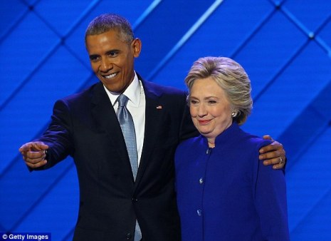 Not great:Major political donor Jeffrey Leeds told Colin Powell in an email last March that Hillary Clinton 'HATES' President Obama (above at the Democratic National Convention in July)