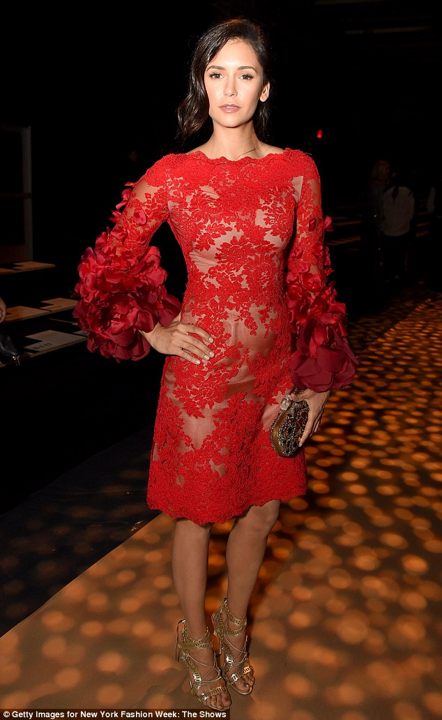 Nina Dobrev Oozes Glamour For The Marchesa Fashion Show In