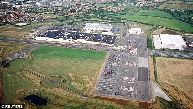 An aerial view of the sprawling Honda Swindon plant