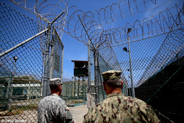 Al-Sharbi described the conversation  to the Periodic Review Board, which assesses whether prisoners can be released (the Guantanamo Bay facility is pictured in a file photo)