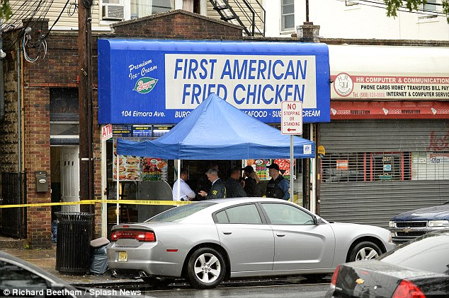 Family business: The Rahami family owned and ran First American Fried Chicken. The suspect was often seen serving in it, while his father, Mohammad, was a constant presence.