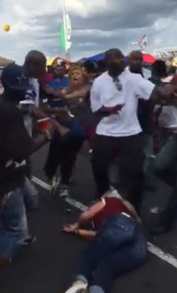 Disturbing moment male Cowboys fan attacks female ...