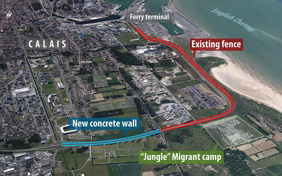 Image result for Calais wall