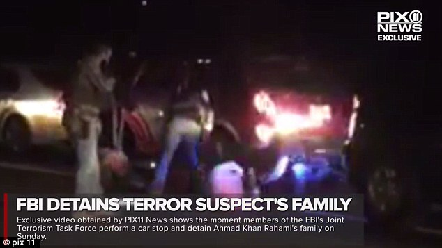 Family arrested: This was the moment the FBI and other law enforcement stopped members of the Rahami family in Brooklyn, New York. They were later all released