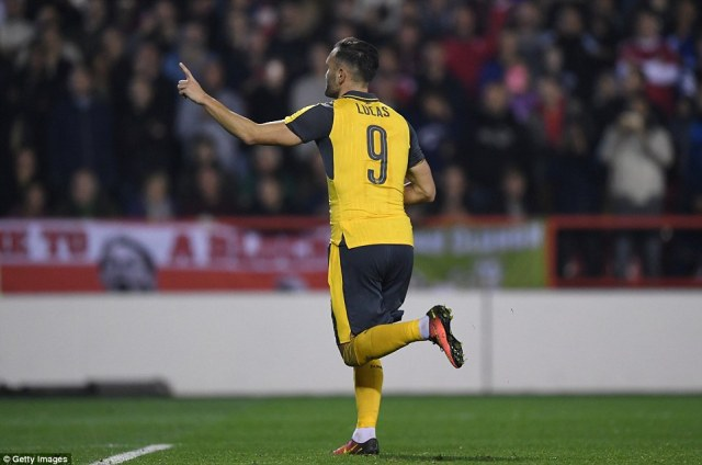 The Spaniard bagged the first two goals of his Gunners career as the away team ran out comfortable winners