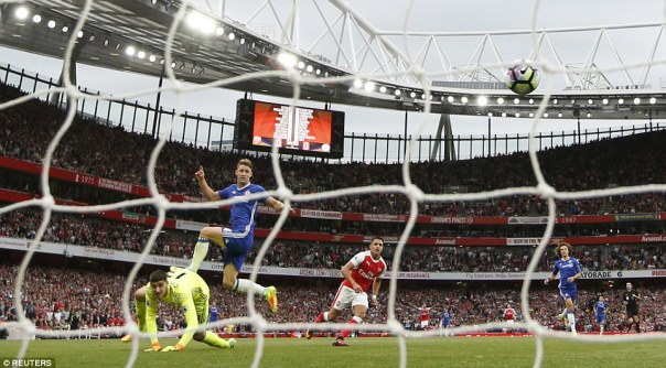 Arsenal made a fast start to the game as Alexis Sanchez opened the scoring following a mistake by Chelsea's Gary Cahill