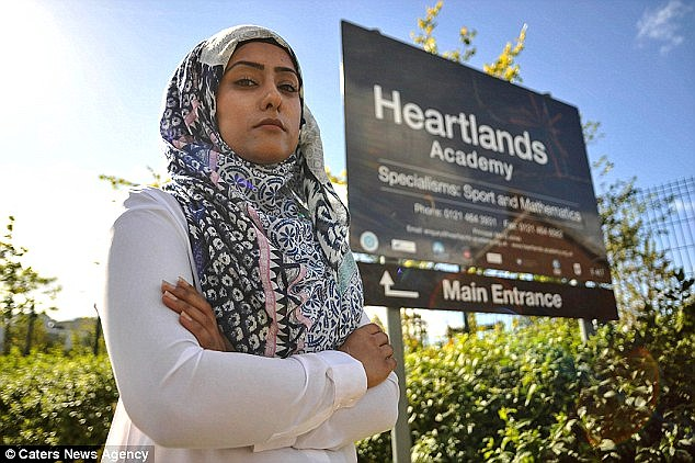 Ms Bi, an Oxford University Graduate, from Yardley in Birmingham, is now pursuing claims against Heartlands Academy for unfair dismissal and religious discrimination