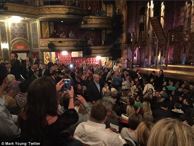 Israeli prime minister Benjamin Netanyahu was booed and met with cries of 'Free Palestine' after going to watch hit Broadway musical Hamilton in New York