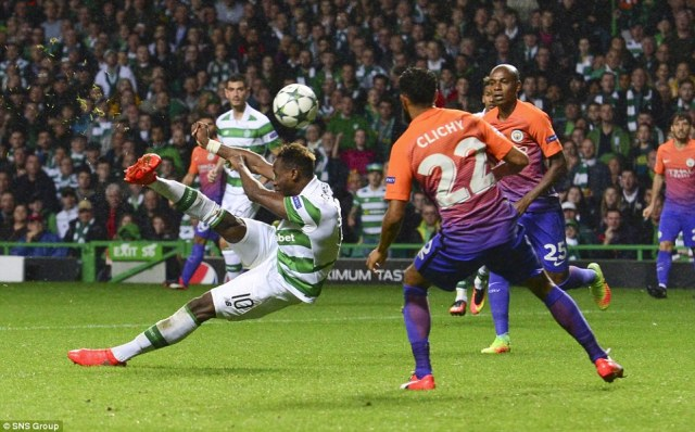 Dembele scored his second of the game just after half-time - an acrobatic overhead kick - to put Celtic 3-2 ahead