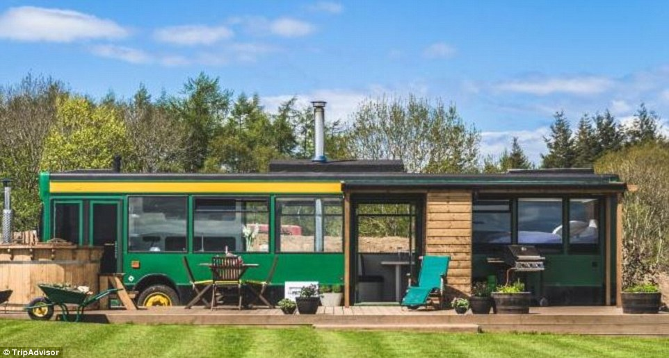 Make for the Scottish Highlands and snooze in this surprisingly spacious converted bus with its own little touches of luxury