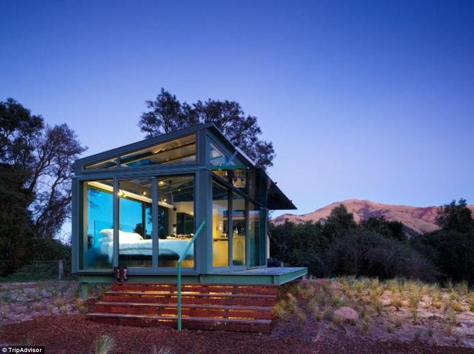 On New Zealand's South Island, you can venture into the wilderness and stay with a partner in this entirely glass 'pod'