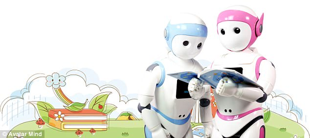 The child-like robot is designed to keep children ages three to eight busy for 'a few hours' without adult supervision