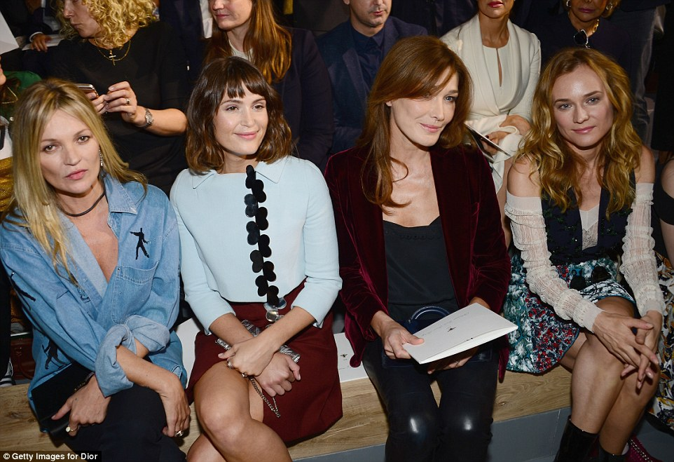 Star-studded FROW:Kate, Gemma, Carla and Diane made a dazzling front row as they checked out the designs
