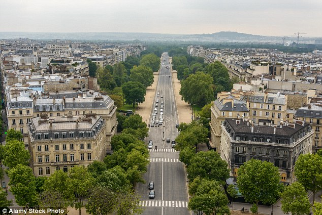 The bodyguard was accused of wanted to sell the images of the inside of the flat in Avenue Foch (shown), the prestigious road close to the Arc de Triomphe, to the media
