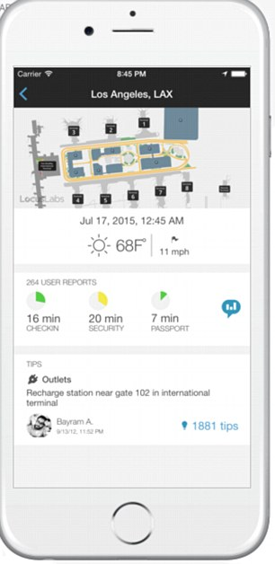 App in the Air stores your itinerary and breaks down each flight into four stages; check in, boarding, take-off, landing time