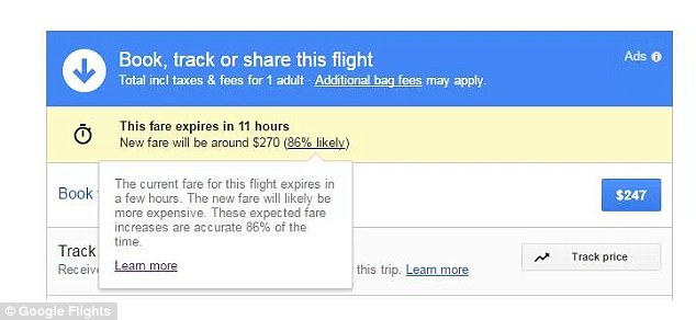 Google Flights now lets you know if a cut-price offer is about to expire, so you can get it while it lasts