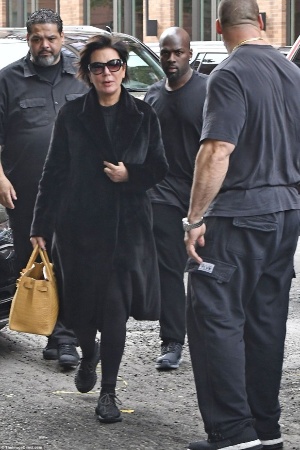 Kardashian was also greeted by her mother, Kris Jenner, as she arrived back in the US today from Paris