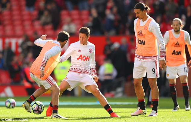 Veteran striker Ibrahimovic pushes his Manchester United team-mates to the limit