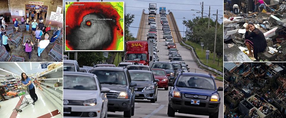 Millions evacuate East Coast before Hurricane Matthew makes landfall in US
