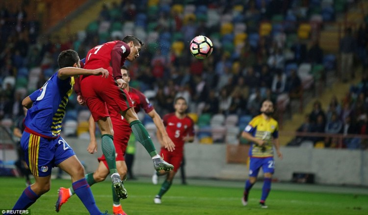 Ronaldo was left unmarked to head home his second goal in the fourth minute of the World Cup qualifier